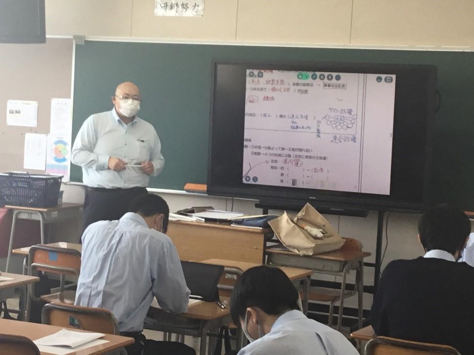 iPadを活用した日本史の授業